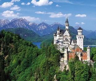 Bavarian castles, mountains and lakes
